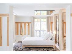 Philippe Starck does puckish comfort (blond wood and gummy bear-colored stained glass) at this seaside escape. Philippe Starck, Plywood Furniture, Bedroom Sets, Home Bedroom, La Croix Valmer, Lounge, Modern Bedroom Design, Bedroom Designs, Best Interior Design