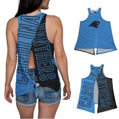 6b80f958d Carolina Panthers NFL Womens Tie-Breaker Tank (PREORDER - SHIPS IN JUNE)