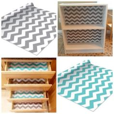 Chevron print contact paper, self-adhesive shelf liner