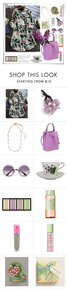 """Rosegal."" by natalyapril1976 ❤ liked on Polyvore featuring Cara, Chan Luu, Furla, Miu Miu, Clé de Peau Beauté, Pixi, Jeffree Star, Jay Strongwater and Cost Plus World Market"
