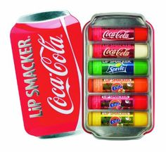 Coca Cola Lip Smackers - This collectable Gift Set is a must for all who love lip balms. The collection includes iconic flavours like Coca Cola, Coca Cola Vanilla, Sprite, Fanta Orange, Fanta Strawberry and Fanta Pineapple that taste like the real thing. Chapstick Lip Balm, Eos Lip Balm, Lip Balms, Gloss Labial, Candy Lips, Flavored Lip Gloss, Love Lips, Hygiene, Lip Care