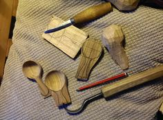 Tom Bartlett: Little scoops in various stages of completion.