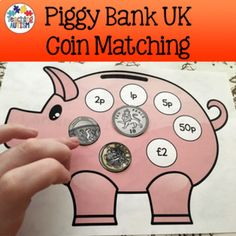 UK Coins Piggy Bank Matching This resource is a fun and engaging activity for students to work on th Money Activities, Autism Activities, Classroom Activities, Teaching Money, Autism Teaching, Teaching Resources, Phonics Lesson Plans, Maths Eyfs, Early Years Maths