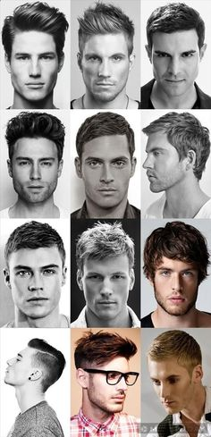 FashionBeans Hairstyles Gallery: Top Cuts great hair cuts for men - guys , feel free to choose one of these styles :) Hair And Beard Styles, Short Hair Styles, Boy Hairstyles, Glasses Hairstyles, Fashion Hairstyles, Hairstyle Names, Trendy Hairstyles, Hairstyle Ideas, Classic Mens Hairstyles