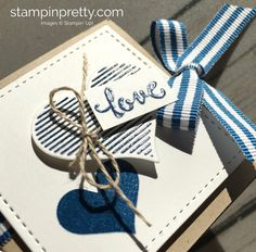 Learn how to heat emboss this valentine treat holder using the Stampin' Up! Stamparatus - Mary Fish Heart Happiness