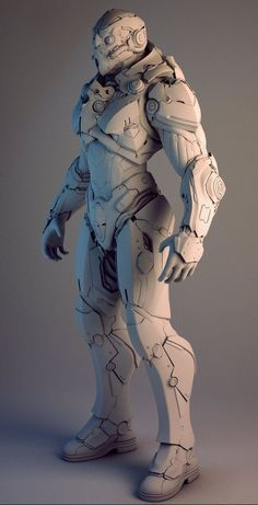 Here's a piece done for Nvidia. The idea was to use the Nvidia swoop as part of the design language, so you see it throughout the character. The overall design was provided, and the more intricate details and functionality were designed by me. 3d Character, Character Concept, Armor Concept, Concept Art, Armadura Cosplay, Arte Robot, Futuristic Armour, Sci Fi Armor, Modelos 3d