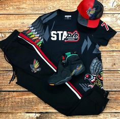 """New Holiday 2018 Staple and Retro 8 """"Air Raid"""" Available here at your one-stop s. Dope Outfits For Guys, Swag Outfits Men, Stylish Mens Outfits, Fashion Outfits, Thrasher Outfit, Mens Sweat Suits, Urban Fashion, Mens Fashion, Hype Clothing"""
