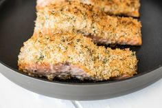 Lemon parmesan crusted salmon is a beautiful dish and gourmet enough to serve for fine dining at home or an intimate dinner for someone special.