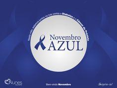 Seja bem-vindo Novembro!! ☁  Neste mês, estamos juntos na luta contra o Diabetes e o Câncer de Próstata.  👏🙏  #ApoiamosEssaCausa