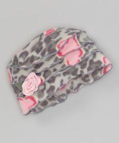 Another great find on #zulily! Pink Snow Leopard Beanie #zulilyfinds