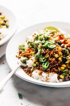 Spicy Cauliflower Walnut Taco Meat! it's so easy: just mix and bake. meatless, gluten free, vegan! #glutenfree #vegetarian #vegan #dinnerrecipe #healthy #yum | pinchofyum.com