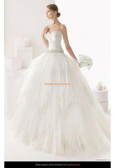 Robe de Mariage princesse avec bustier manches séparées