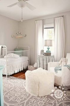 Love this! If its a girl would do little pink accents!  girls room.  baby room.  bedroom.  nursery.  home decor and interior decorating ideas.