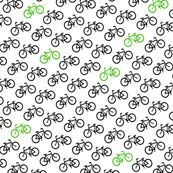 Tiny Bicycles by spacefem, Spoonflower digitally printed fabric