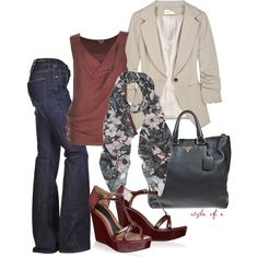 """""""Floral Scarf"""" by styleofe on Polyvore"""