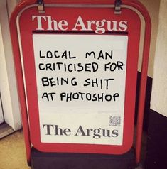 The Argus - Local man criticised for being sh*t at Photoshop How Do You Work, When You See It, Funny Fails, Funny Jokes, Yoga Cartoon, Obama Funny, British Slang, Bacon Funny