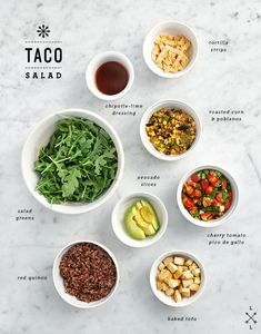taco salad with chipotle lime dressing