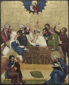 Death of the Virgin, c. 1400, Master of Heiligenkreuz (Austrian). Cleveland Museum of Art