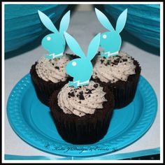 Cupcake Toppers #Playboy #Bunny #18th #21st #30th #HensNight #BacheloretteParty #ladies #PartyDecorations #Heels #Martini #GirlsNightOut #Hens #Night #Bachelorette #Divorce #Birthday #Bunting #Party #Decorations #Ideas #Banners #Cupcakes #WallDisplay #Wine #Labels #PartyBags #Invites #KatieJDesignAndEvents #Personalised #Creative