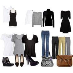 Minimalist wardrobe from my blog, Three Bags Full