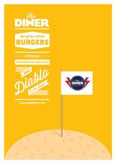 DINER Burger Poster by www.LimitedEditionDesign.co.uk