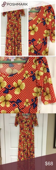 🆕🦄 ANA DRESS BY LULAROE HTF PRINT Super cute red polka dot with floral pattern. Size medium. Brand new with tags.   Note: I am not a consultant, just a customer who loves lularoe and wears it almost daily. I own most styles so feel free to ask any questions and I will try to help. Destashing a bit as my closet is a little full. I have paid retail or above for all items. Feel free to add to a bundle, for a private offer. LuLaRoe Dresses Maxi