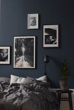 Dark walls bedroom