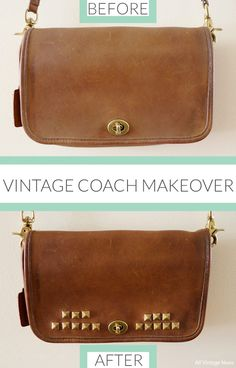 Coach History From Official Site This Forgotten Vintage Purse Gets A Loving Makeover Diy Leather Projects Purses