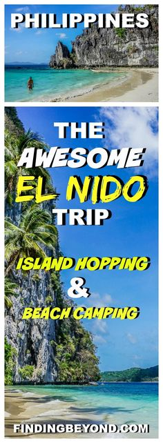 Check out our awesome El Nido (Philippines) trip itinerary. Included is information on El Nido island hopping, El Nido camping and how to get there.   Snake Island El NIDO   Big Lagoon El Nido   Small Lagoon El Nido   Beach Camping in the Philippines   Island Camping   El Nido Boat Tours   best Beaches Philippines   Philippines on a budget   Top Places To Visit In the Philippines   Best attractions in El Nido