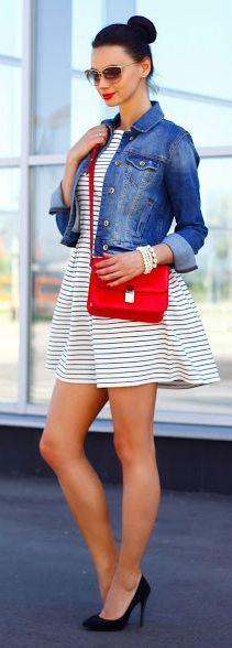 Striped Little Dress