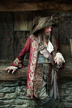 Keith Richards as Captain Teague in Pirates of the Carribean
