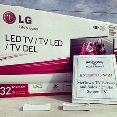 One lucky fan will win this TV thanks to McGown TV at today's FREE Spring Rev Up at BGBP (10am-2pm). #FUNNER