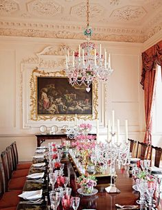 Scottish Manor House Dining Room Curtains