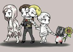 Ruvik, Sebastian, Ruben, Leslie and the Keeper