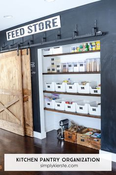 Farmhouse Kitchen Pantry! I'm sharing all the details on how I organized everything, plus information on our bypass sliding barn doors. It's one of my f... - Kierste Wade - Google+