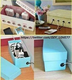 simple & easy phone charger ideas! definitely saves space!