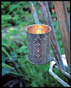 A string of these Mexican tin lanterns, either lined up along a wall or hung from the branches of a tree, would look fabulous.