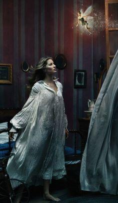 Annie Leibovitz for Disney: Mikhail Baryshnikov, Gisele Bundchen, and Tina Fey as Peter Pan, Wendy and Tinker Bell