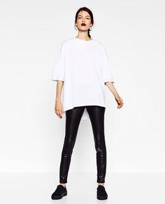 OVERSIZED HIGH NECK SWEATSHIRT from Zara