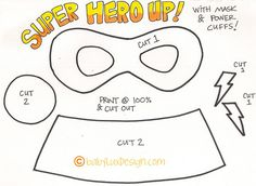 Printable super hero mask