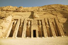 The temple of Nefertari, Abu Simbel. Built for her by Rameses II.