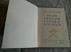Jan Matejko Mateyko Kings and Princes of Poland portraits In Polish 1960