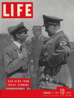 Life Magazine Copyright 1941 Goebbels And Goering - Mad Men Art: The 1891-1970 Vintage Advertisement Art Collection
