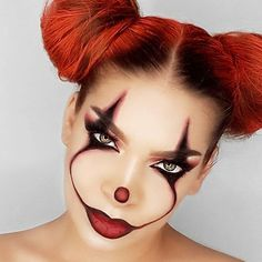 _ _ _ #it #pennywise #clown #glam #glamour #clownmakeup #clowncostume #pennywisemakeup #itmovie #halloweenmakeup #halloweenideas #halloween2017 #crazymakeups #glamandgore #hairstyles #redhair #makeup #makeuptutorial #costume #31daysofhalloween #alternative #nyxcosmetics #100daysofmakeupchallenge #cosplaygirl #100daysofmakeup #halloween #makeupaddict #clowns
