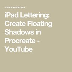 IPad Lettering Create Floating Shadows In Procreate