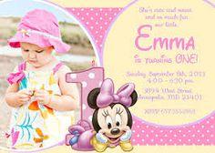 Risultati immagini per invito primo compleanno con foto file digitale