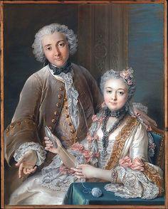 1743. Double Portrait Presumed to Represent François de Jullienne (1722–1754) and His Wife (Marie Élisabeth de Séré de Rieux, 1724–1795) Charles Antoine Coypel (French, Paris 1694–1752 Paris)