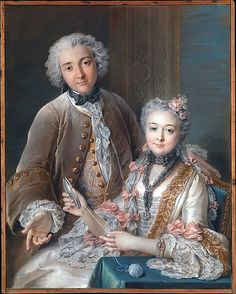 1743. Double Portrait Presumed to Represent François de Jullienne (1722–1754) and His Wife (Marie Élisabeth de Séré de Rieux, 1724–1795) Charles Antoine Coypel (French, Paris 1694–1752 Paris)