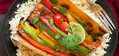 Chipotle Rubbed Salmon with Bell Peppers in Cedar Paper