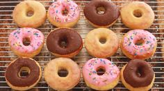 Of course we cannot forget donuts! In this recipe the donuts are not fried but baked! So definitely try this recipe I tried it once and my friend got crazy about it. This is the recipe I used: http://www.biggerbolderbaking.com/no-knead-donuts/ Or http://www.biggerbolderbaking.com/homemade-donuts/